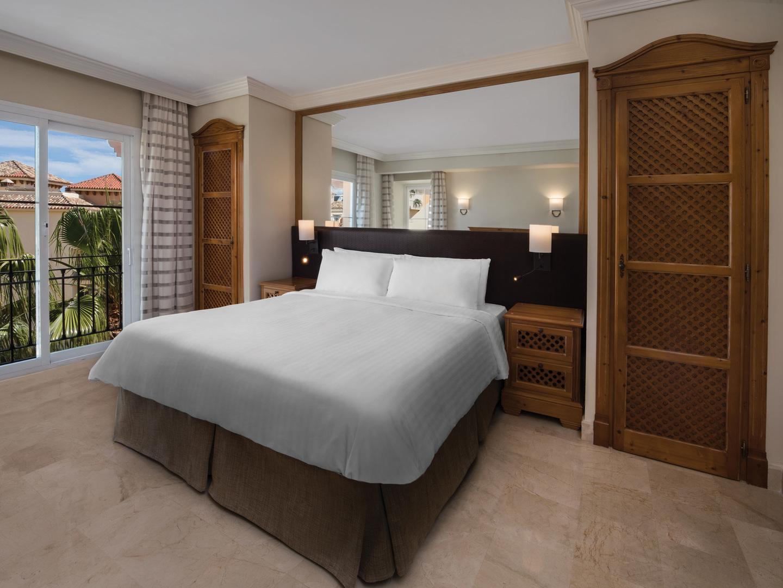 Marriott's Marbella Beach Resort Villa Master Bedroom. Marriott's Marbella Beach Resort is located in Marbella,  Spain.