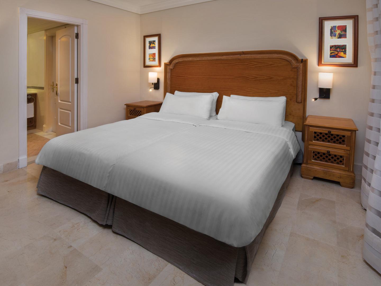 Marriott's Marbella Beach Resort Villa Bedroom. Marriott's Marbella Beach Resort is located in Marbella,  Spain.