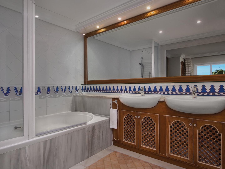 Marriott's Marbella Beach Resort Villa Master Bathroom. Marriott's Marbella Beach Resort is located in Marbella,  Spain.
