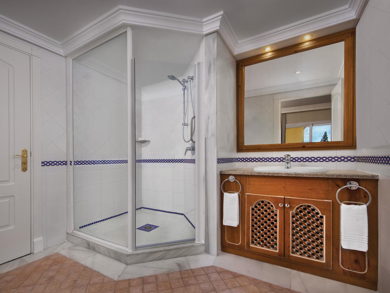 Marriott's Marbella Beach Resort Villa Bathroom. Marriott's Marbella Beach Resort is located in Marbella,  Spain.