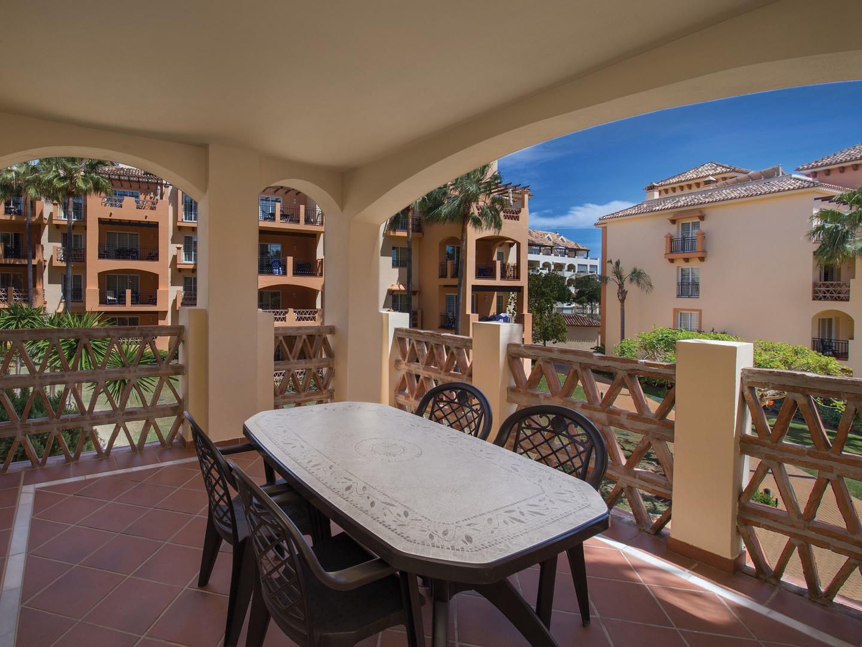 Marriott's Marbella Beach Resort Villa Balcony. Marriott's Marbella Beach Resort is located in Marbella,  Spain.