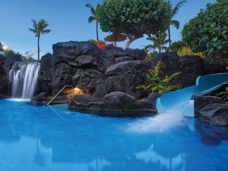 Marriott's Maui Ocean Club - Molokai, Maui, and Lanai Towers Super Pool. Marriott's Maui Ocean Club - Molokai, Maui, and Lanai Towers is located in Lāhainā, Maui, Hawai'i United States.
