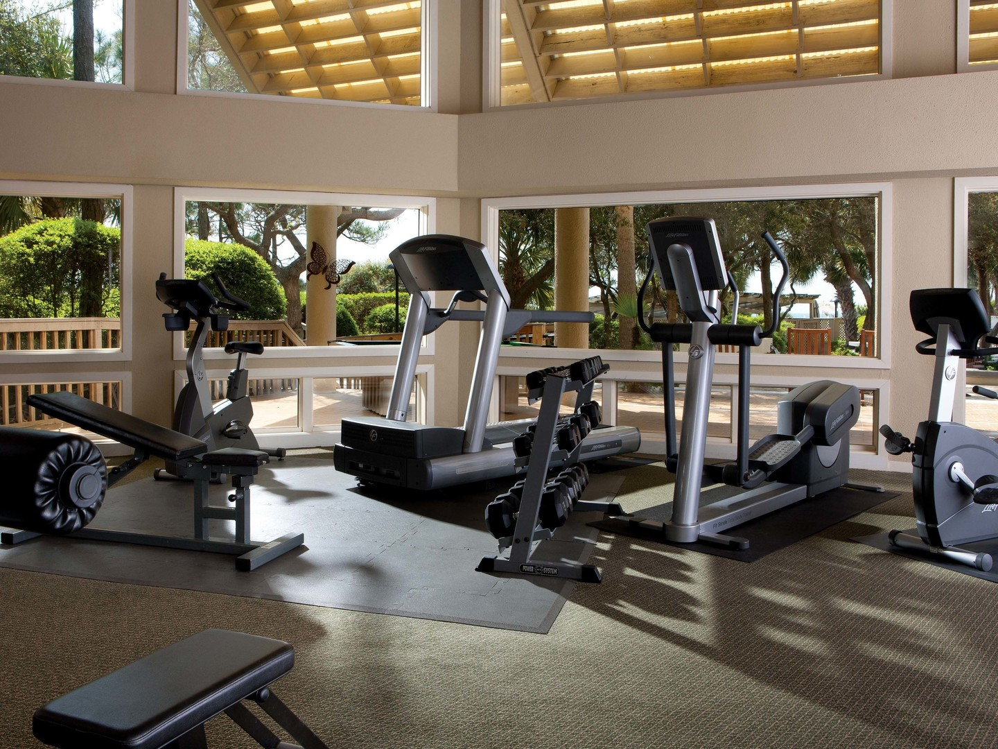 Marriott's Monarch Fitness Center. Marriott's Monarch is located in Hilton Head Island, South Carolina United States.