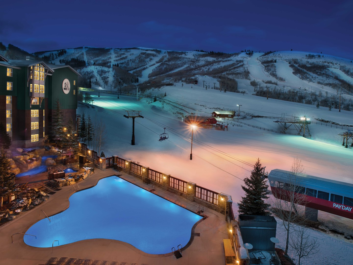 Marriott's MountainSide Pool. Marriott's MountainSide is located in Park City, Utah United States.