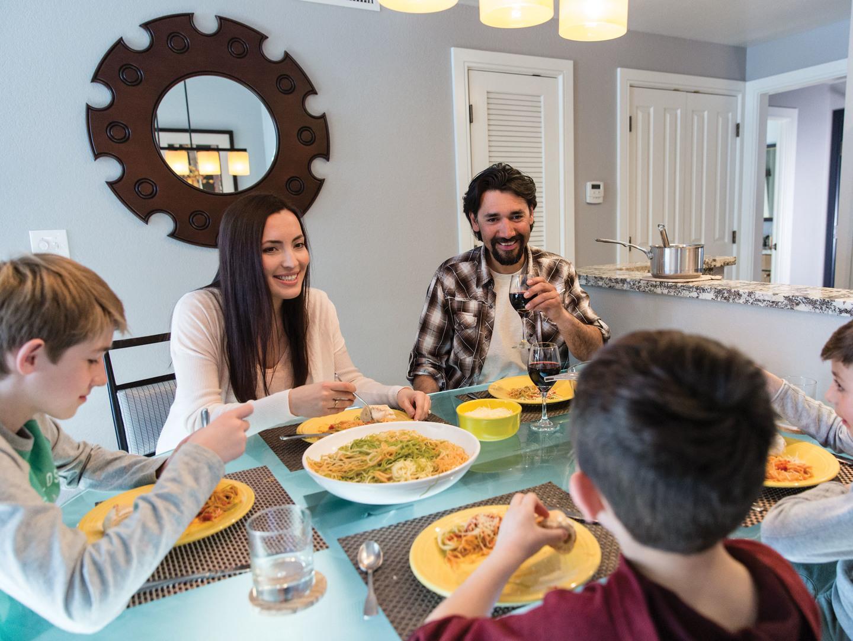 Marriott's MountainSide Family Dinner. Marriott's MountainSide is located in Park City, Utah United States.