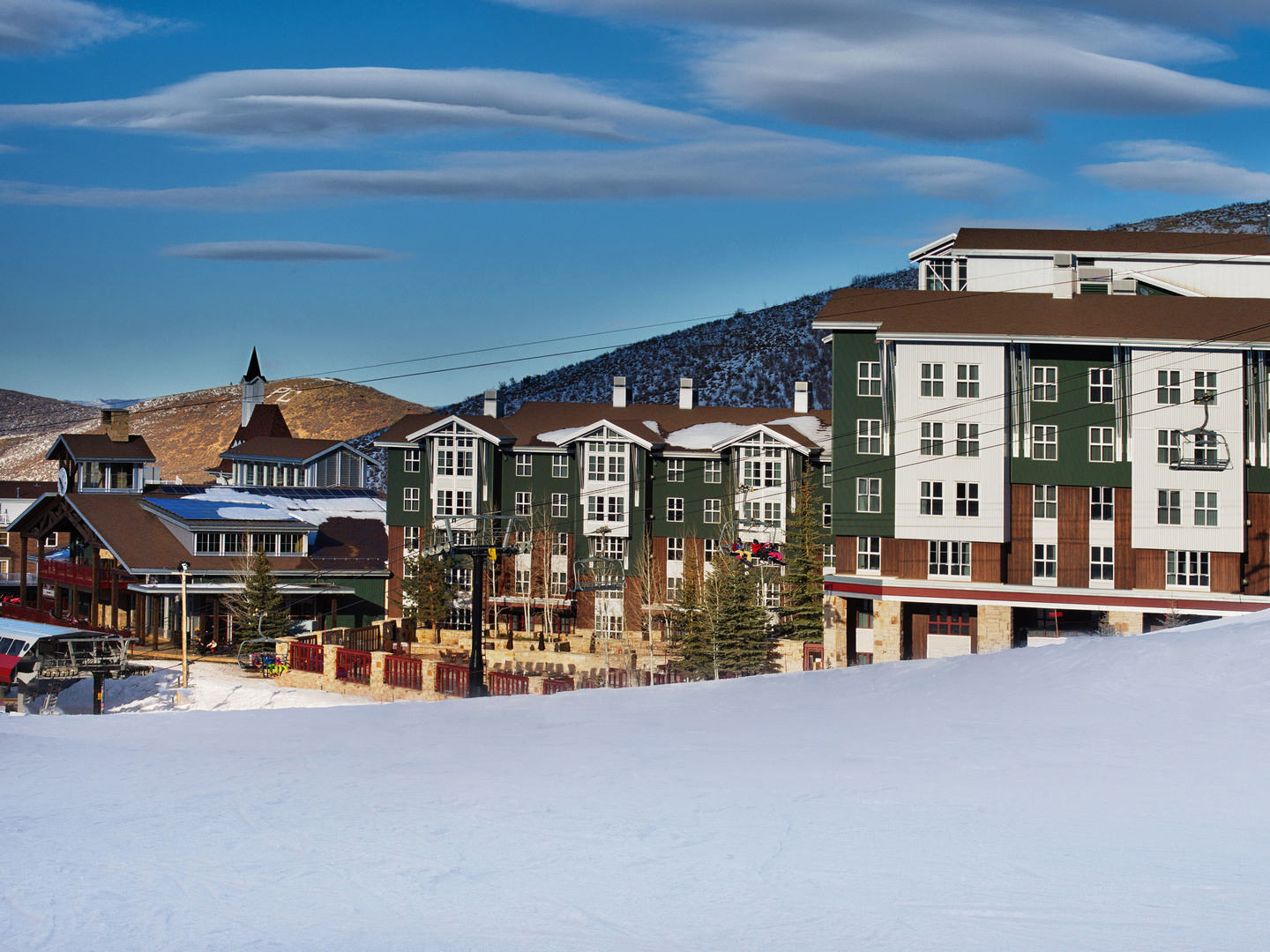 Marriott's MountainSide Exterior. Marriott's MountainSide is located in Park City, Utah United States.