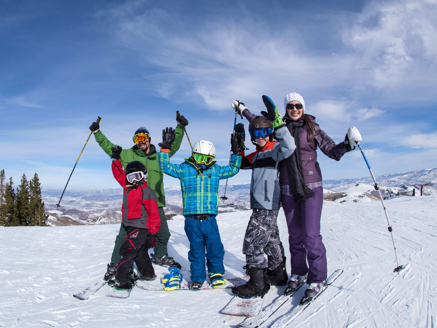 Marriott's MountainSide Mountain Top Photo Op. Marriott's MountainSide is located in Park City, Utah United States.