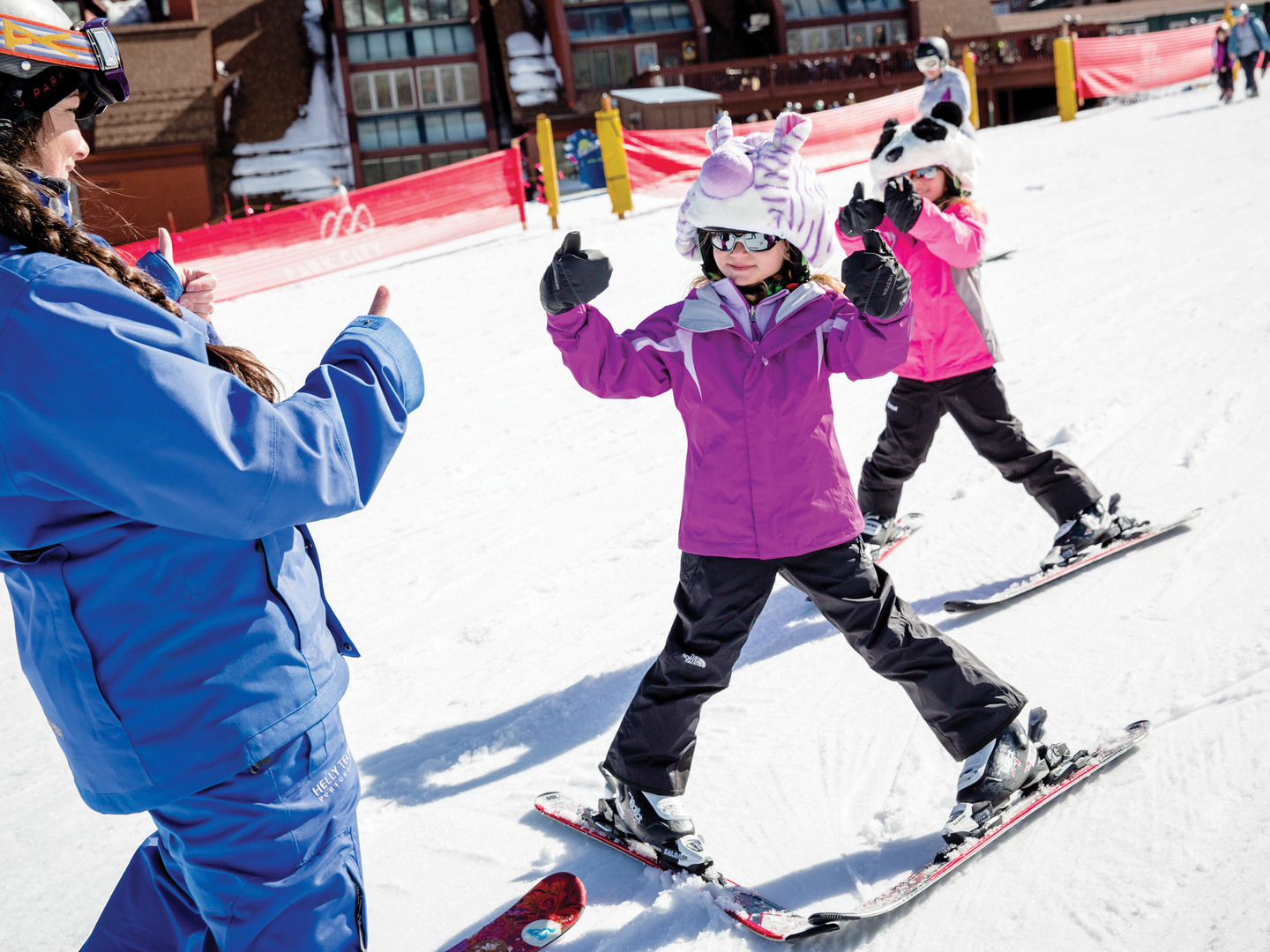 Marriott's MountainSide Ski Lessons Thumbs Up. Marriott's MountainSide is located in Park City, Utah United States.