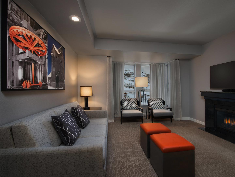 Marriott's MountainSide Villa Living Room. Marriott's MountainSide is located in Park City, Utah United States.