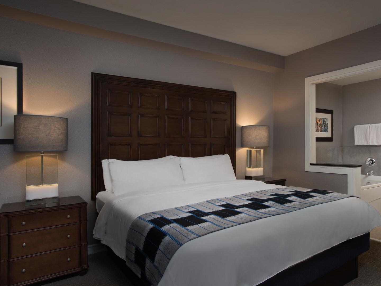Marriott's MountainSide Villa Master Bedroom. Marriott's MountainSide is located in Park City, Utah United States.