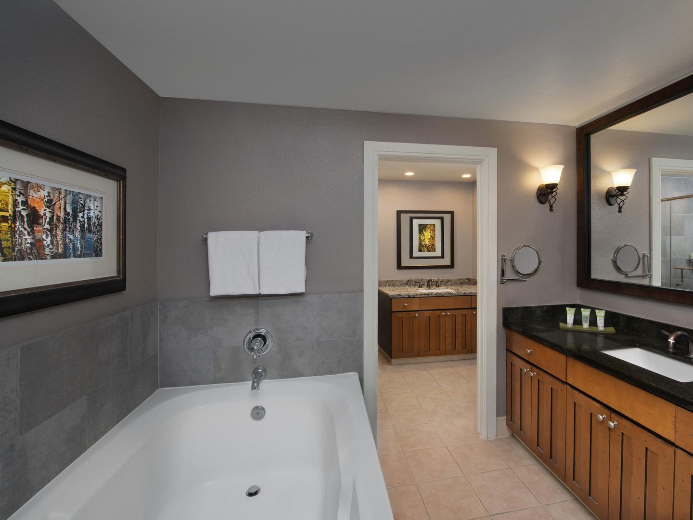 Marriott's MountainSide Villa Master Bathroom. Marriott's MountainSide is located in Park City, Utah United States.