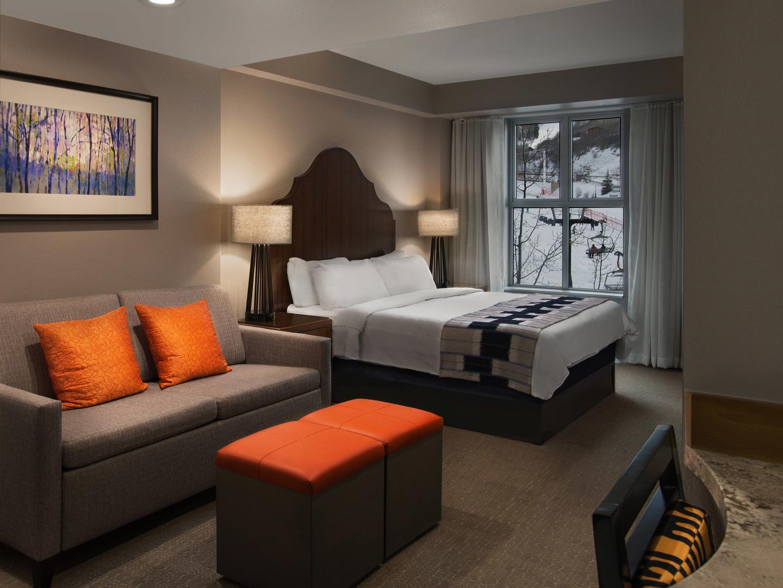 Marriott's MountainSide Villa Guest Bedroom. Marriott's MountainSide is located in Park City, Utah United States.