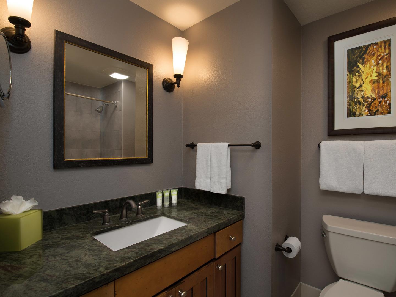 Marriott's MountainSide Villa Guest Bathroom. Marriott's MountainSide is located in Park City, Utah United States.