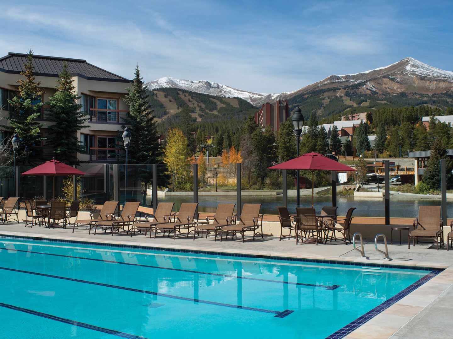 Marriott's Mountain Valley Lodge Main Pool. Marriott's Mountain Valley Lodge is located in Breckenridge, Colorado United States.