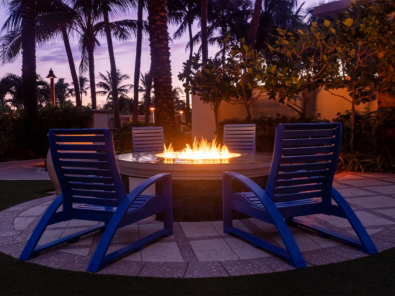 Marriott's Oceana Palms Fire pit. Marriott's Oceana Palms is located in Riviera Beach, Florida United States.