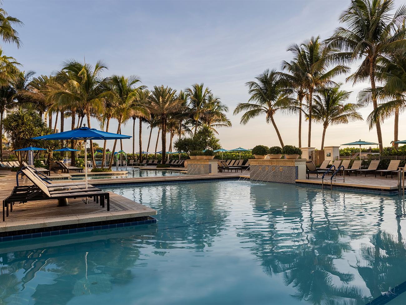 Marriott's Oceana Palms Lap Pool. Marriott's Oceana Palms is located in Riviera Beach, Florida United States.