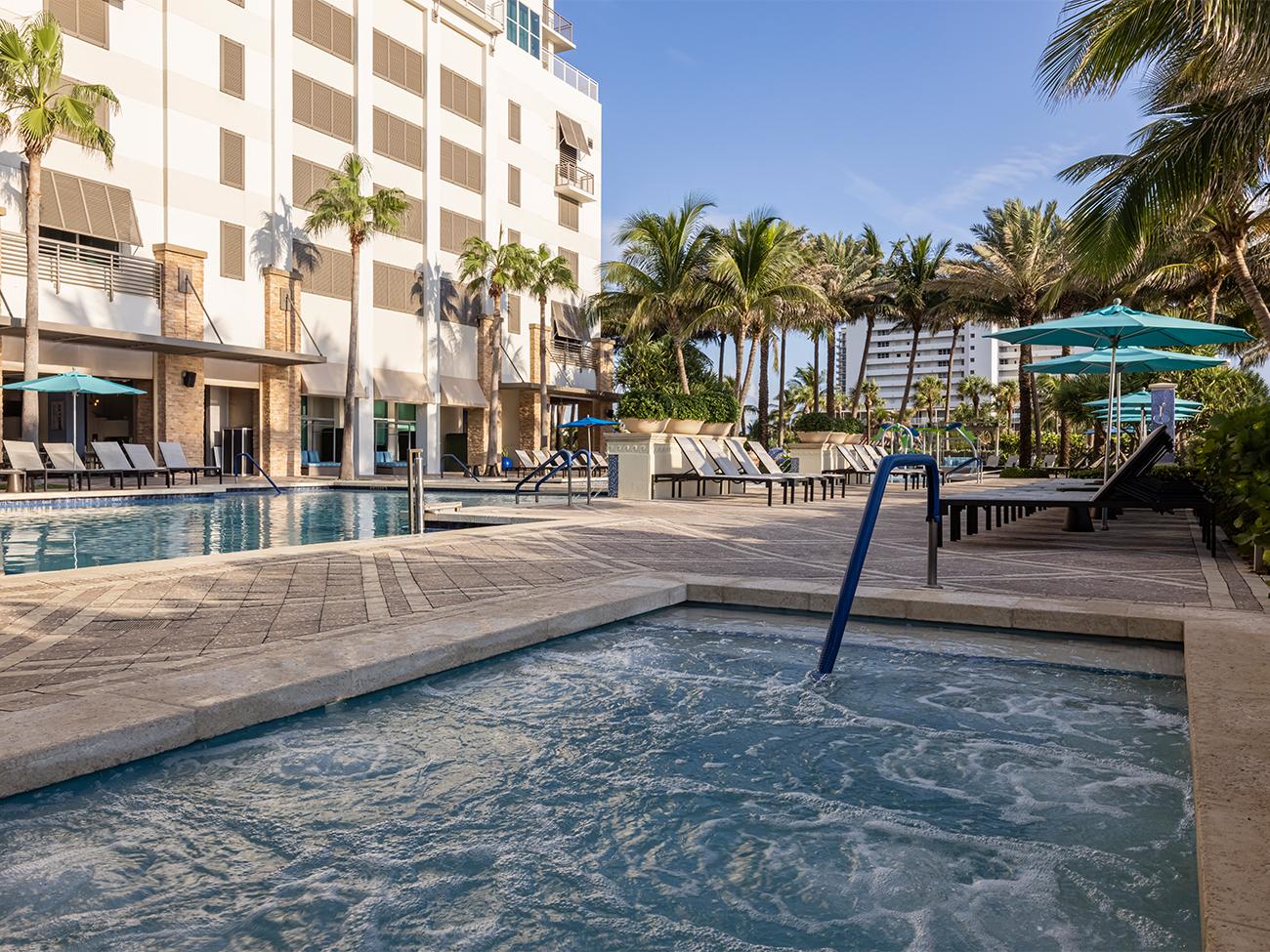 Marriott's Oceana Palms Whirlpool Spa. Marriott's Oceana Palms is located in Riviera Beach, Florida United States.