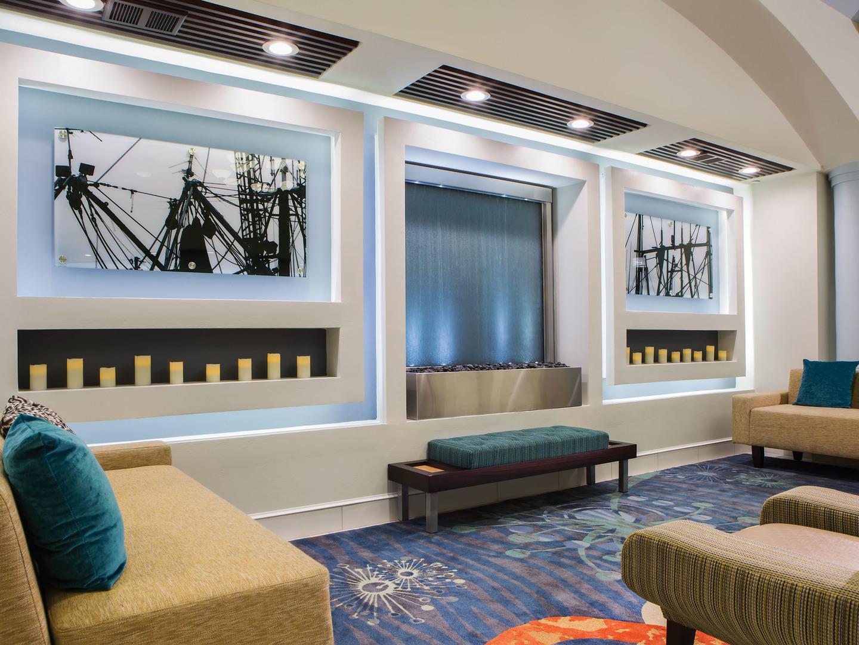 Marriott's Ocean Pointe Lobby. Marriott's Ocean Pointe is located in Palm Beach Shores, Florida United States.
