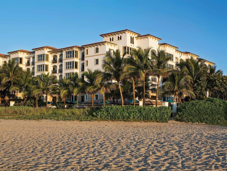 Marriott's Ocean Pointe Resort Exterior. Marriott's Ocean Pointe is located in Palm Beach Shores, Florida United States.