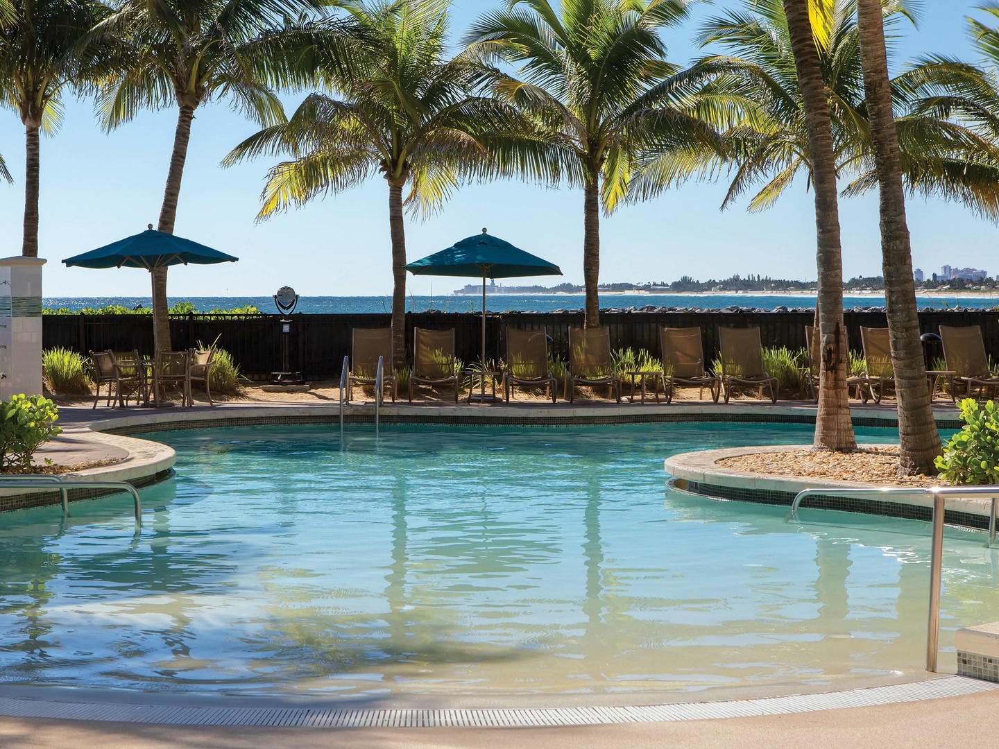 Marriott's Ocean Pointe Main Pool. Marriott's Ocean Pointe is located in Palm Beach Shores, Florida United States.