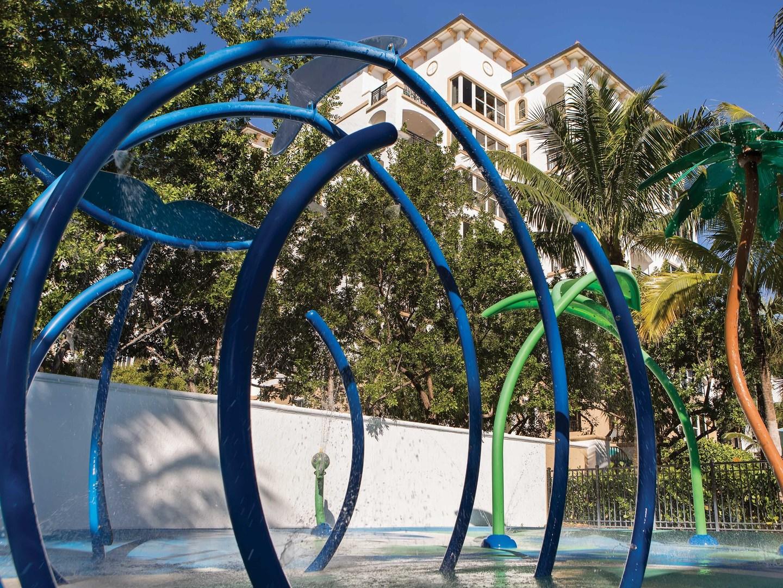 Marriott's Ocean Pointe Splash Pad. Marriott's Ocean Pointe is located in Palm Beach Shores, Florida United States.