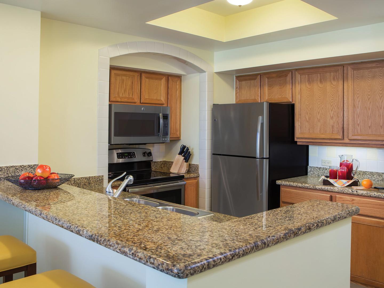 Marriott's Ocean Pointe Villa Kitchen. Marriott's Ocean Pointe is located in Palm Beach Shores, Florida United States.