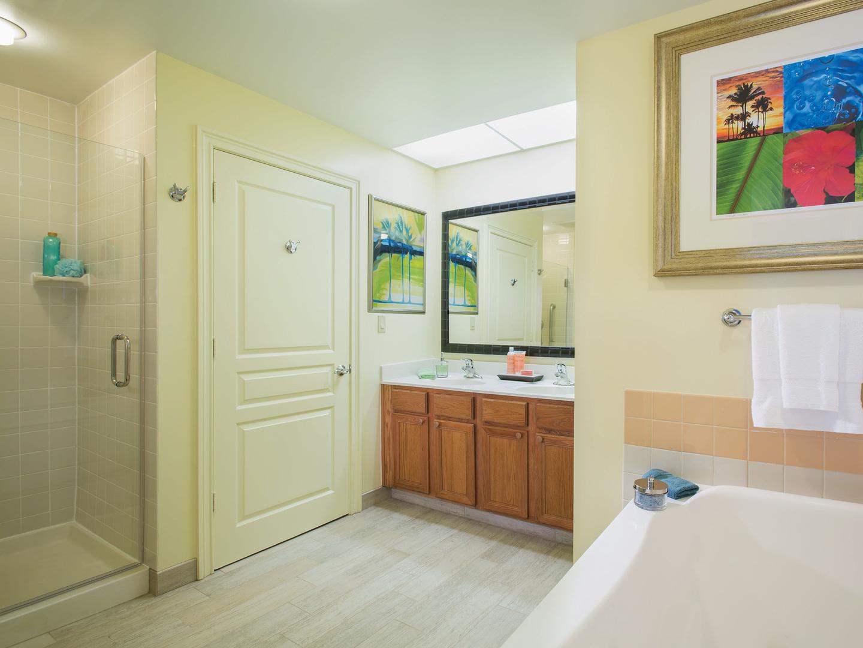 Marriott's Ocean Pointe Villa Bathroom. Marriott's Ocean Pointe is located in Palm Beach Shores, Florida United States.