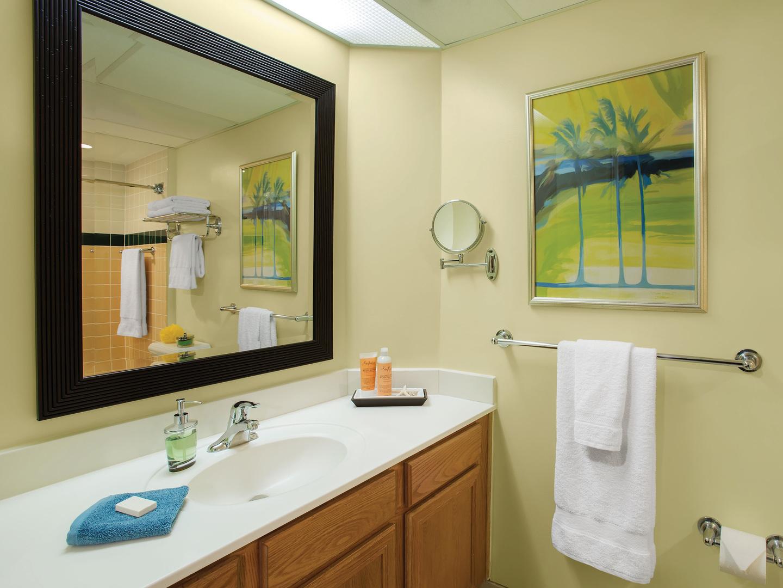 Marriott's Ocean Pointe Villa Guest Bathroom. Marriott's Ocean Pointe is located in Palm Beach Shores, Florida United States.