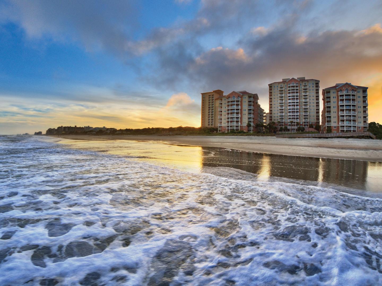 Marriott's OceanWatch Beachfront Resort Exterior. Marriott's OceanWatch is located in Myrtle Beach, South Carolina United States.