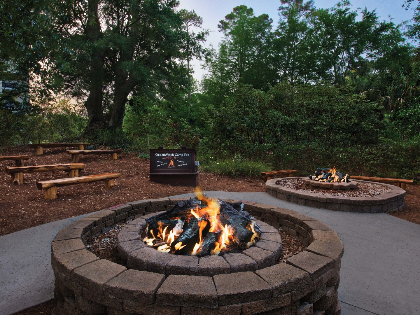 Marriott's OceanWatch Fire Pit. Marriott's OceanWatch is located in Myrtle Beach, South Carolina United States.