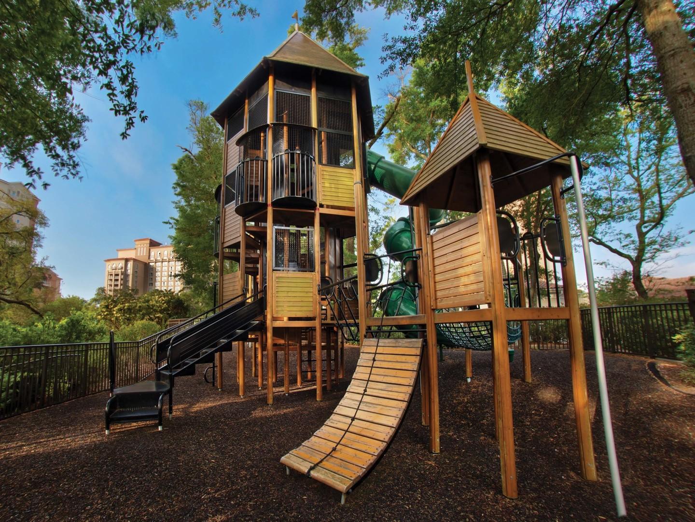 Marriott's OceanWatch Tree House Playground. Marriott's OceanWatch is located in Myrtle Beach, South Carolina United States.