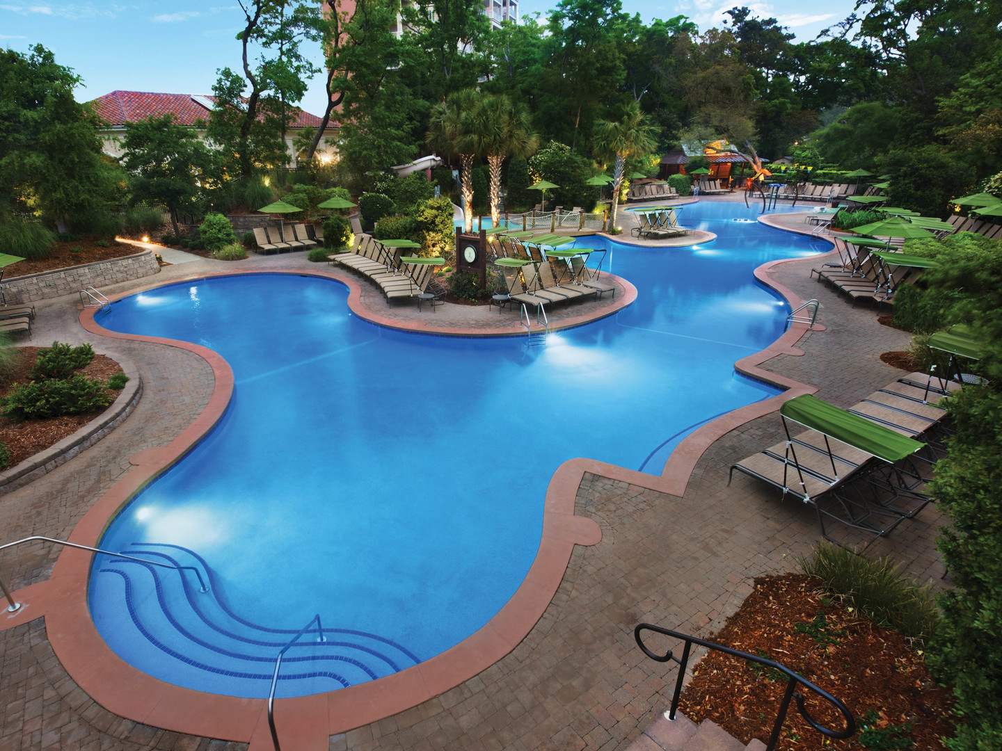 Marriott's OceanWatch Woodsy Pool. Marriott's OceanWatch is located in Myrtle Beach, South Carolina United States.