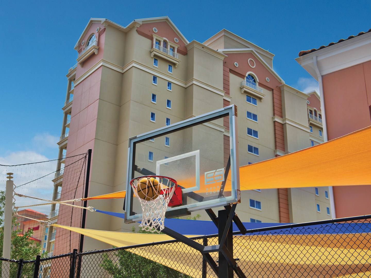 Marriott's OceanWatch Sports Court. Marriott's OceanWatch is located in Myrtle Beach, South Carolina United States.