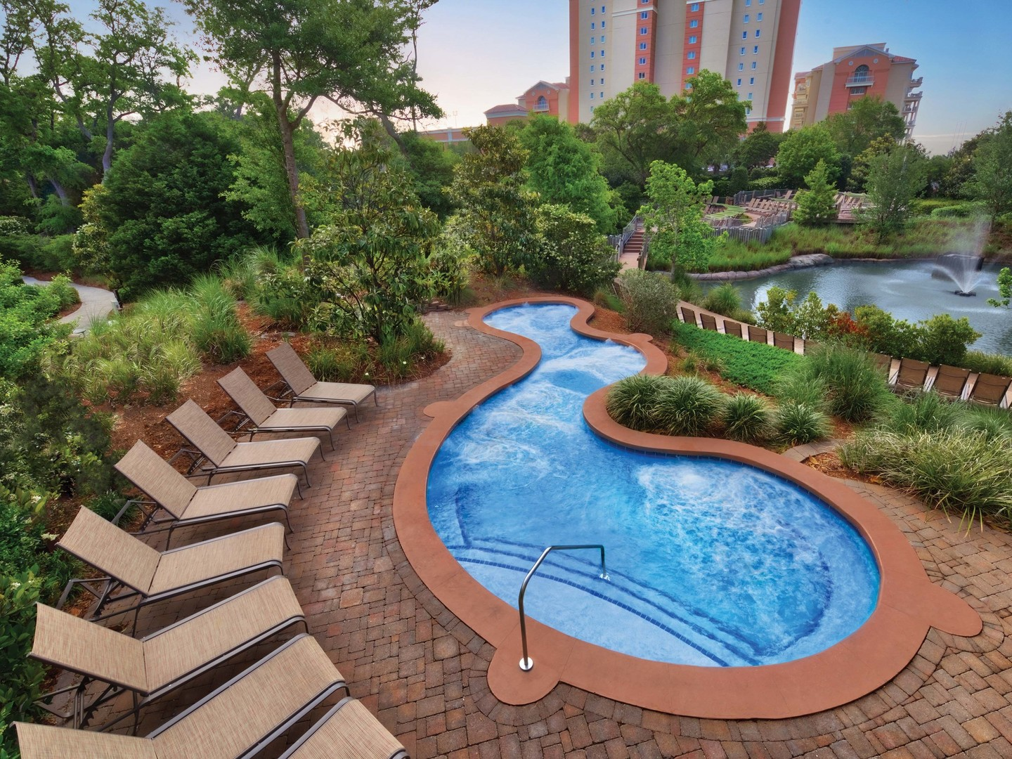 Marriott's OceanWatch Whirlpool Spa. Marriott's OceanWatch is located in Myrtle Beach, South Carolina United States.