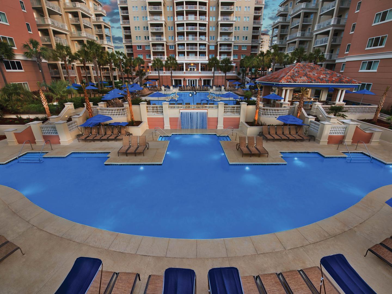 Marriott's OceanWatch Seaside Pool. Marriott's OceanWatch is located in Myrtle Beach, South Carolina United States.