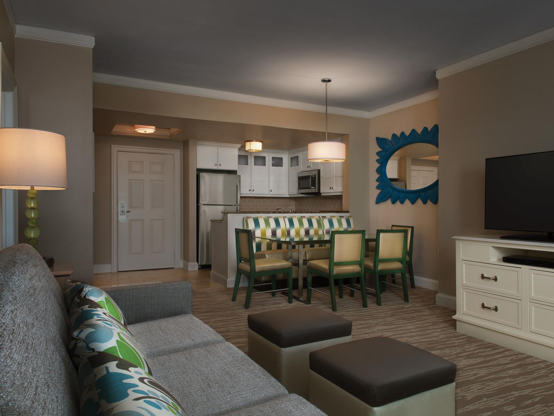 Marriott's OceanWatch Villa Living Room/Dining Room. Marriott's OceanWatch is located in Myrtle Beach, South Carolina United States.