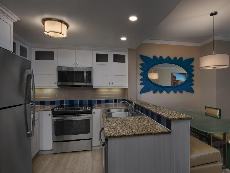 Marriott's OceanWatch Villa Kitchen. Marriott's OceanWatch is located in Myrtle Beach, South Carolina United States.