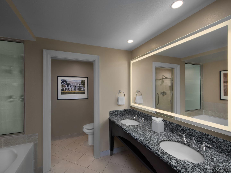 Marriott's OceanWatch Villa Master Bathroom. Marriott's OceanWatch is located in Myrtle Beach, South Carolina United States.