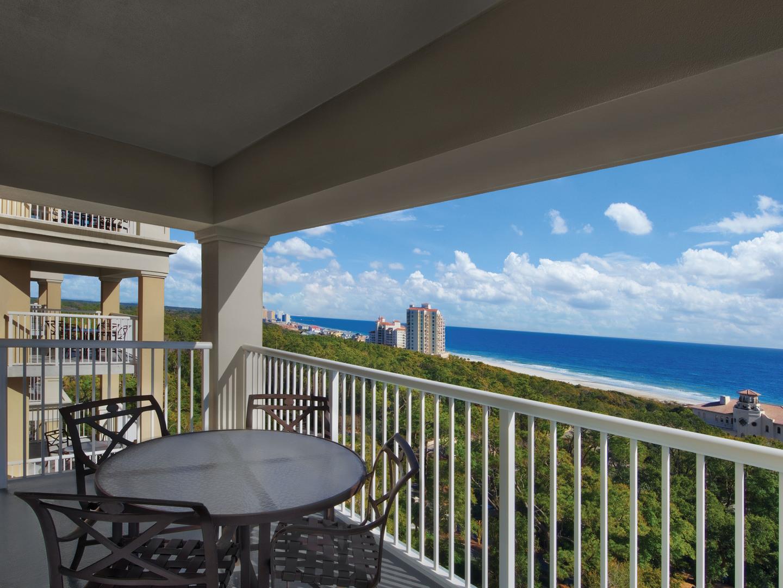 Marriott's OceanWatch Villa Patio. Marriott's OceanWatch is located in Myrtle Beach, South Carolina United States.