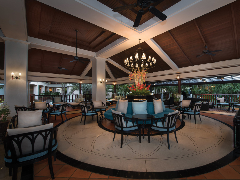 Marriott's Phuket Beach Club Sala Sawasdee Lobby Bar. Marriott's Phuket Beach Club is located in Mai Khao Beach, Phuket Thailand.