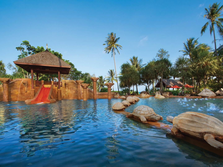 Marriott's Phuket Beach Club Kids Pool. Marriott's Phuket Beach Club is located in Mai Khao Beach, Phuket Thailand.