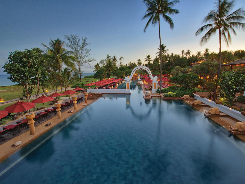 Marriott's Phuket Beach Club Main Pool. Marriott's Phuket Beach Club is located in Mai Khao Beach, Phuket Thailand.