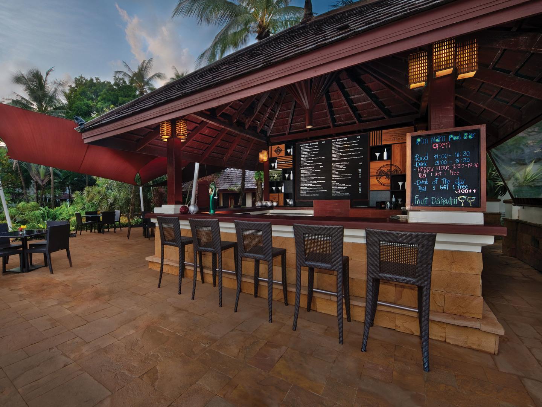 Marriott's Phuket Beach Club Rim Nam Pool Bar. Marriott's Phuket Beach Club is located in Mai Khao Beach, Phuket Thailand.