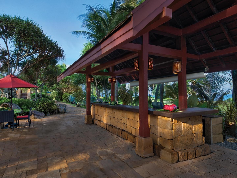 Marriott's Phuket Beach Club Beside the Sea Pool Bar. Marriott's Phuket Beach Club is located in Mai Khao Beach, Phuket Thailand.