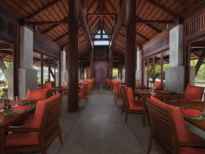 Marriott's Phuket Beach Club Ginja Taste-Thai Restaurant. Marriott's Phuket Beach Club is located in Mai Khao Beach, Phuket Thailand.