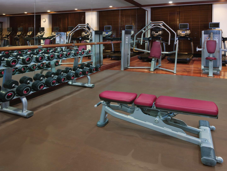 Marriott's Phuket Beach Club Fitness Center. Marriott's Phuket Beach Club is located in Mai Khao Beach, Phuket Thailand.