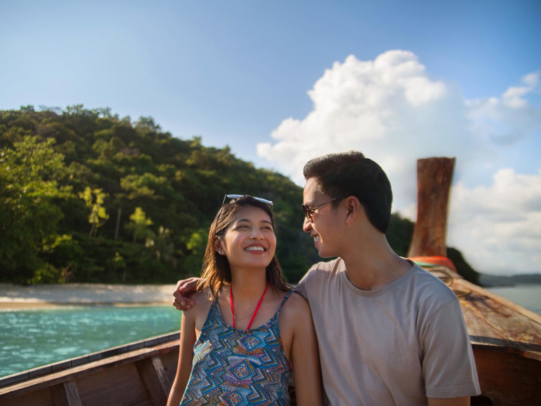 Marriott's Phuket Beach Club Long Boat Excursion. Marriott's Phuket Beach Club is located in Mai Khao Beach, Phuket Thailand.