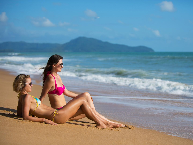 Marriott's Phuket Beach Club Sun Soaked Phuket Beach. Marriott's Phuket Beach Club is located in Mai Khao Beach, Phuket Thailand.