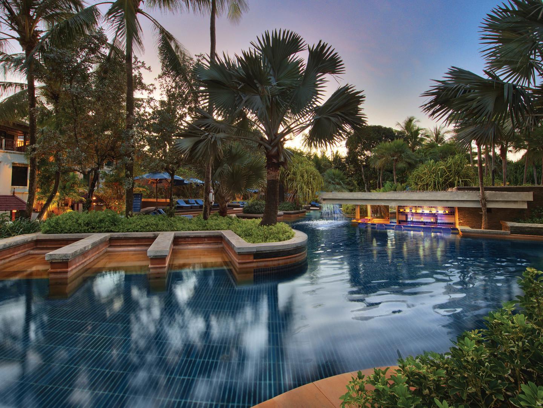 Marriott's Phuket Beach Club South Pool. Marriott's Phuket Beach Club is located in Mai Khao Beach, Phuket Thailand.