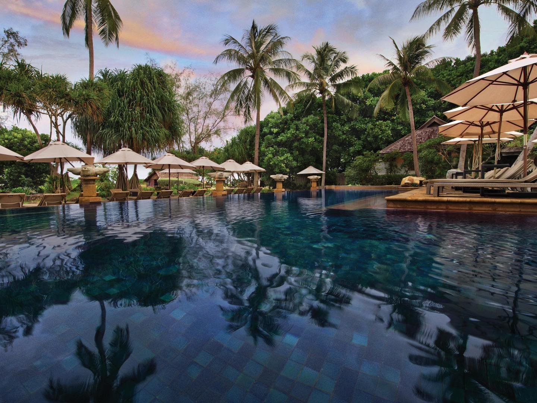 Marriott's Phuket Beach Club North Pool View. Marriott's Phuket Beach Club is located in Mai Khao Beach, Phuket Thailand.